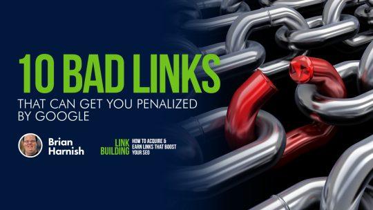 10 enlaces malos que pueden penalizarte por Google