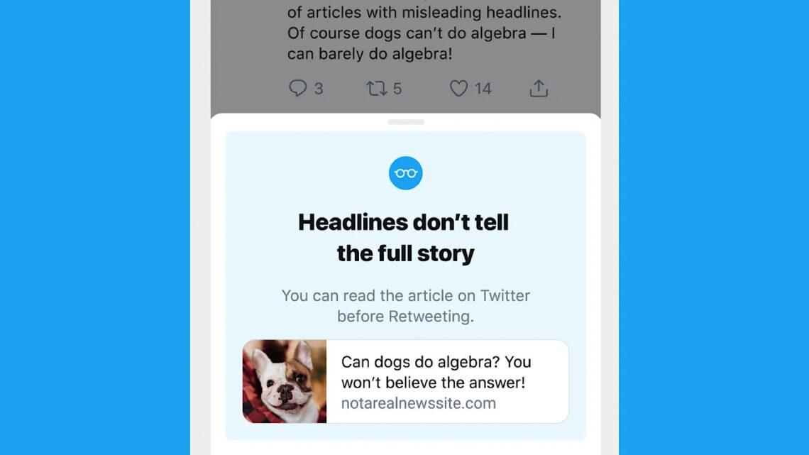 Twitter dice que más usuarios hacen clic en enlaces antes de retuitear