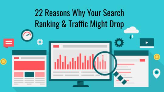 22 posibles razones por las que el tráfico de su sitio ha disminuido