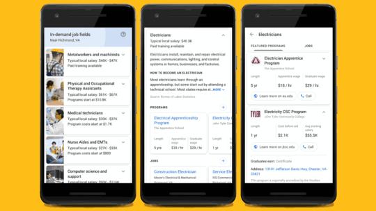 Google aclara la función de pausa para capacitación laboral en la búsqueda