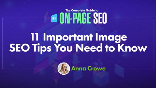 11 consejos importantes de SEO para imágenes que debe conocer