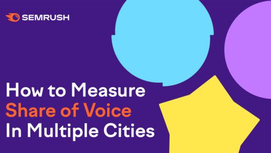 Cómo medir la cuota de voz en varias ciudades