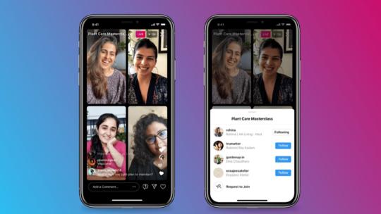 Instagram permite que hasta 4 personas experimenten en vivo en un solo feed
