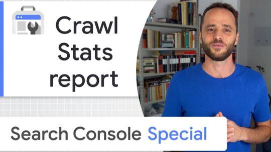 Uso de Google del informe de estadísticas de rastreo de Search Console