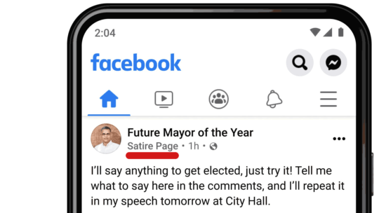 Facebook agregando etiquetas de contexto a las vistas de página en las fuentes de noticias
