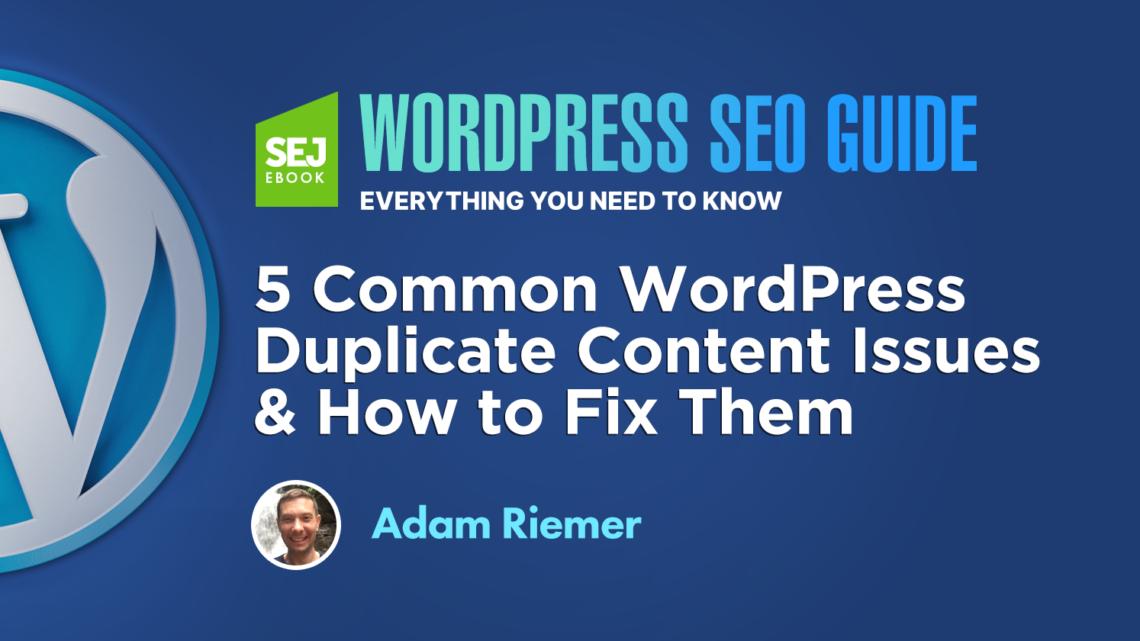 5 problemas comunes de contenido duplicado de WordPress y cómo solucionarlos