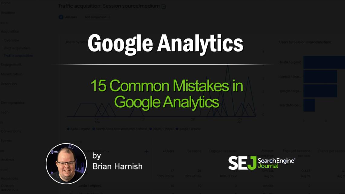 Evite estos 15 errores comunes de Google Analytics