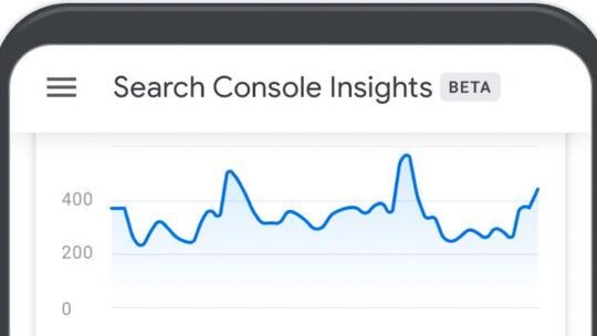 Google lanza Search Console Insights