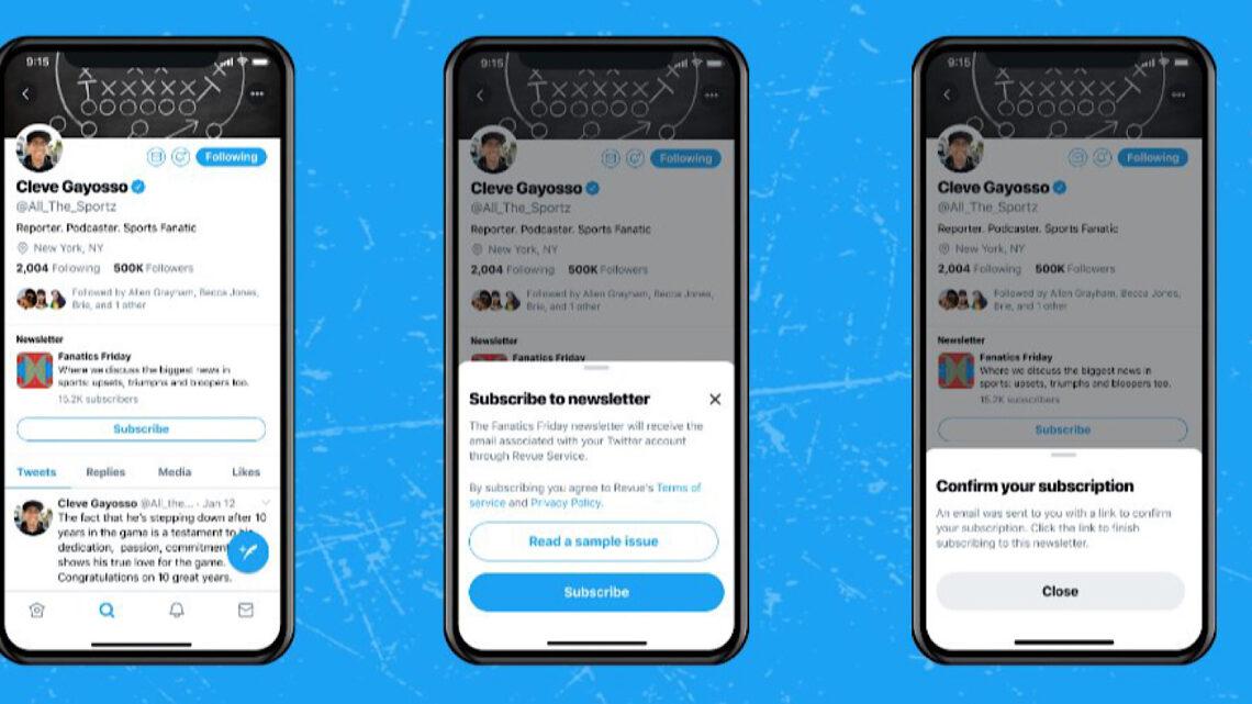 Twitter agrega el botón 'Suscribirse' a los perfiles para suscripciones al boletín