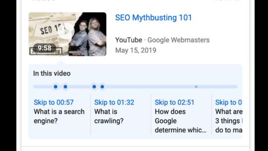 Google lanza una nueva forma de optimizar videos para la búsqueda